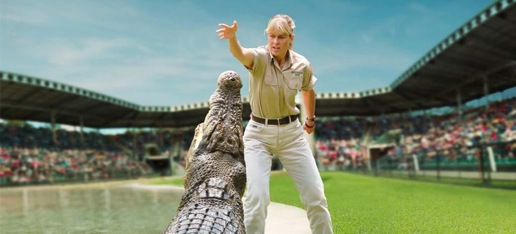 Australia Zoo Terri Feeding Croc
