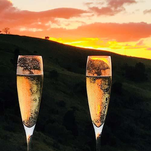 Romantic Getaway Champagne Sunset